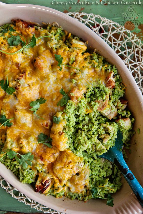 Easy green rice casserole recipe