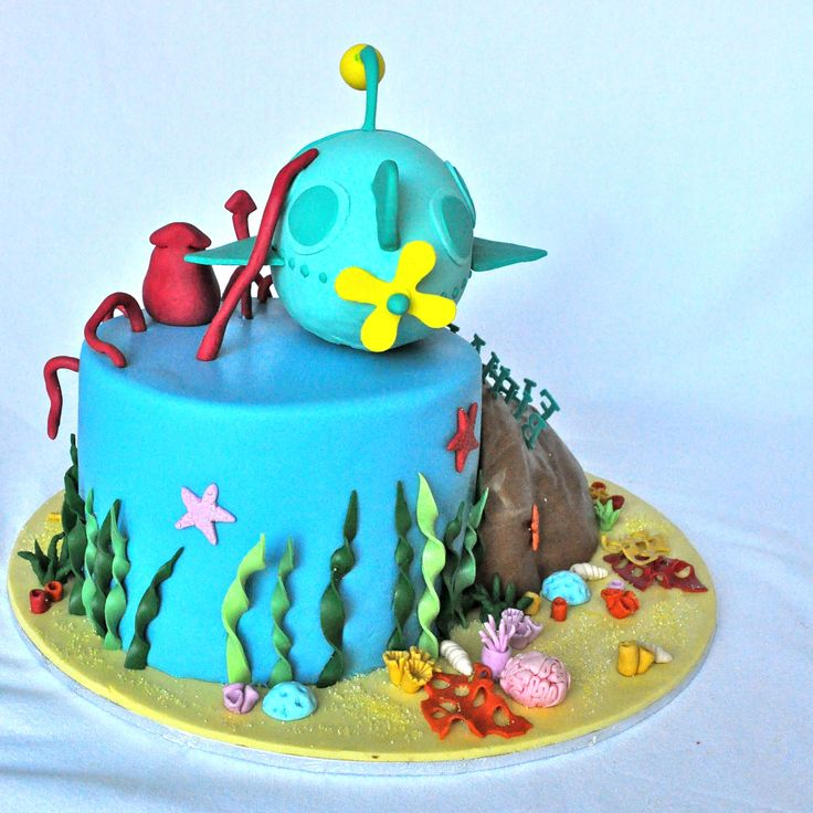 Kids Birthday Cake with an underwater Octonauts theme.