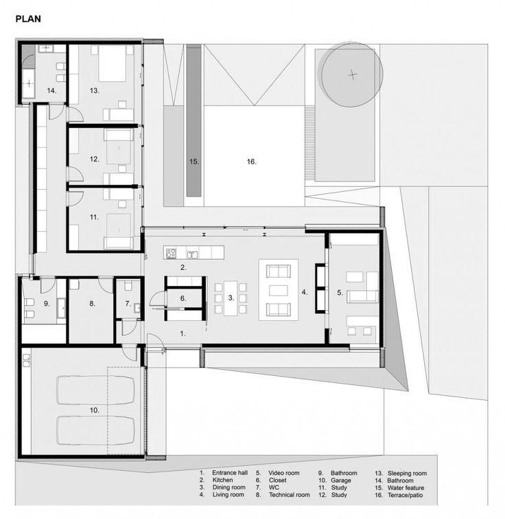 Single level floor plan