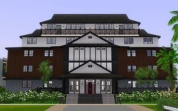 "Mod The Sims - Japanese style tourist spot ""Public hall"""