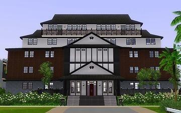 "Mod The Sims - Japanese style tourist spot ""Public hall"""