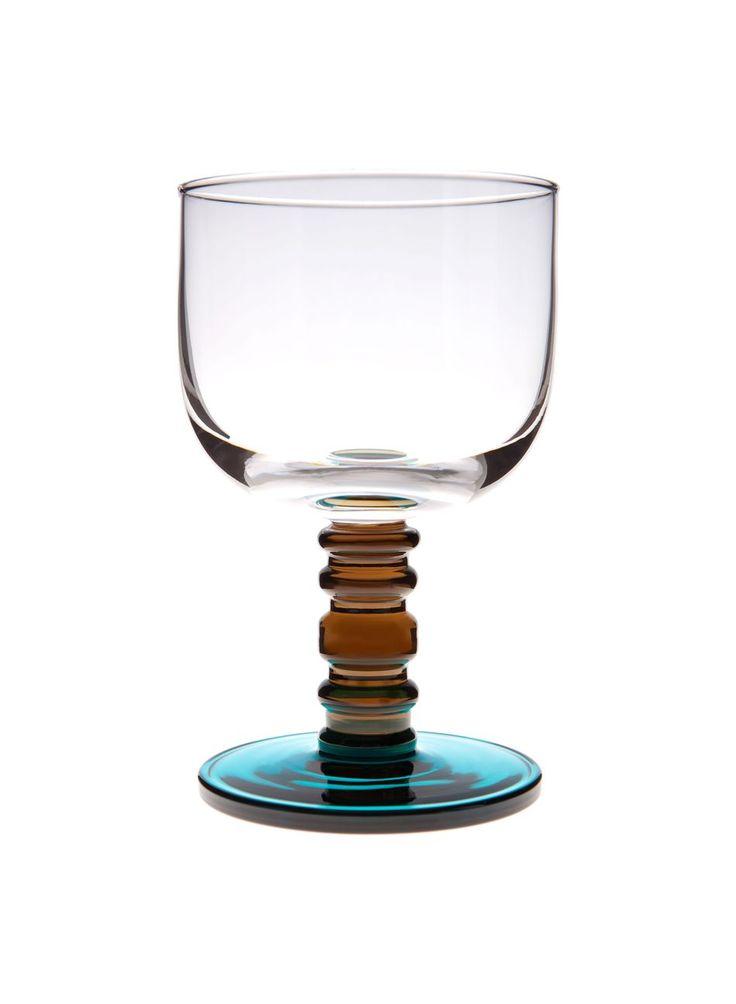 Sukat makkaralla -jalallinen lasi (kirkas,savu,turkoosi) |Sisustustuotteet, Keittiö, Lasitavara | Marimekko