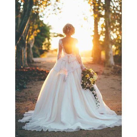 Robe de mariee princesse avec grande traine