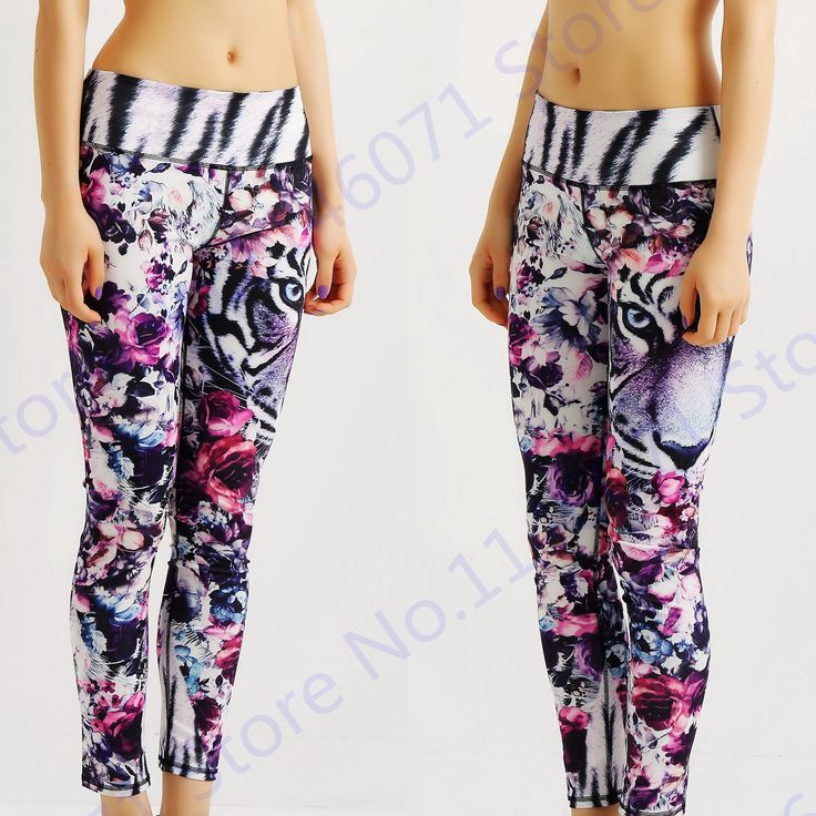 Find More Yoga Pants Information about Tiger Tattoo Sport Pants Women Rose…