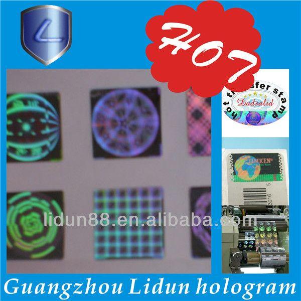 hologram sticker printer,3d hologram sticker maker, holograms 3d $0.001~$0.08