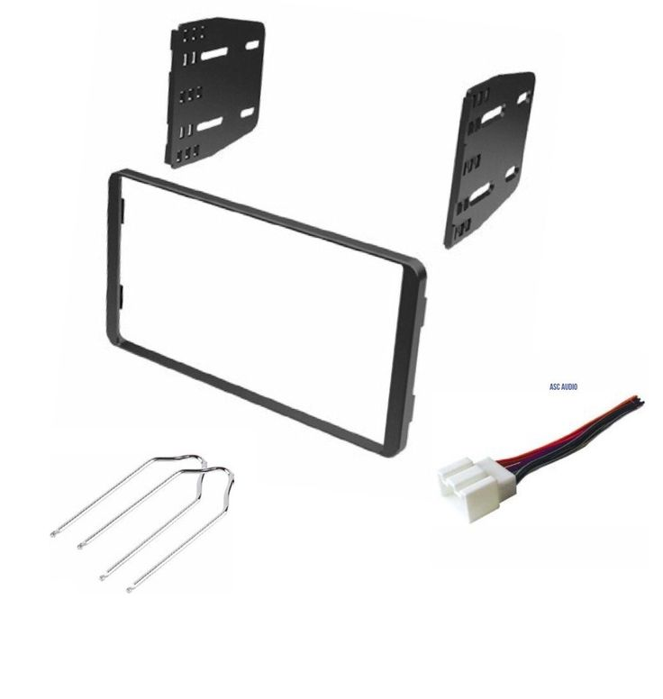 Car Stereo Dash Kit, Wire Harness, and Radio Tool for Installing a Double Din Radio for 1998-2008 Ford Econoline, 1999-2003 Ford F-150, 1999-2004 Ford F-250/350, 1998-2012 Ford Ranger