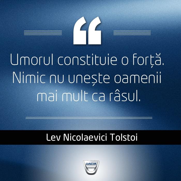 """""""Umorul constituie o forţă. Nimic nu uneşte oamenii mai mult ca râsul."""" Citat de Lev Nicolaevici Tolstoi"""