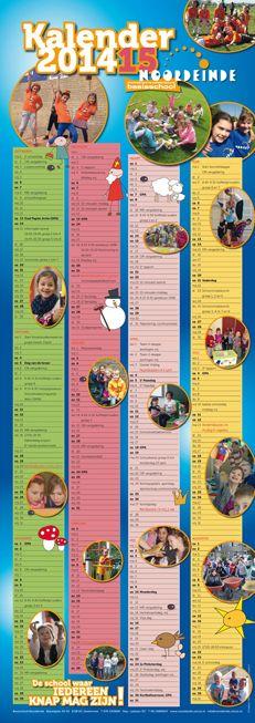 Schoolkalender voor Basisschool Noordeinde uit Zoetermeer 2014 - 2015