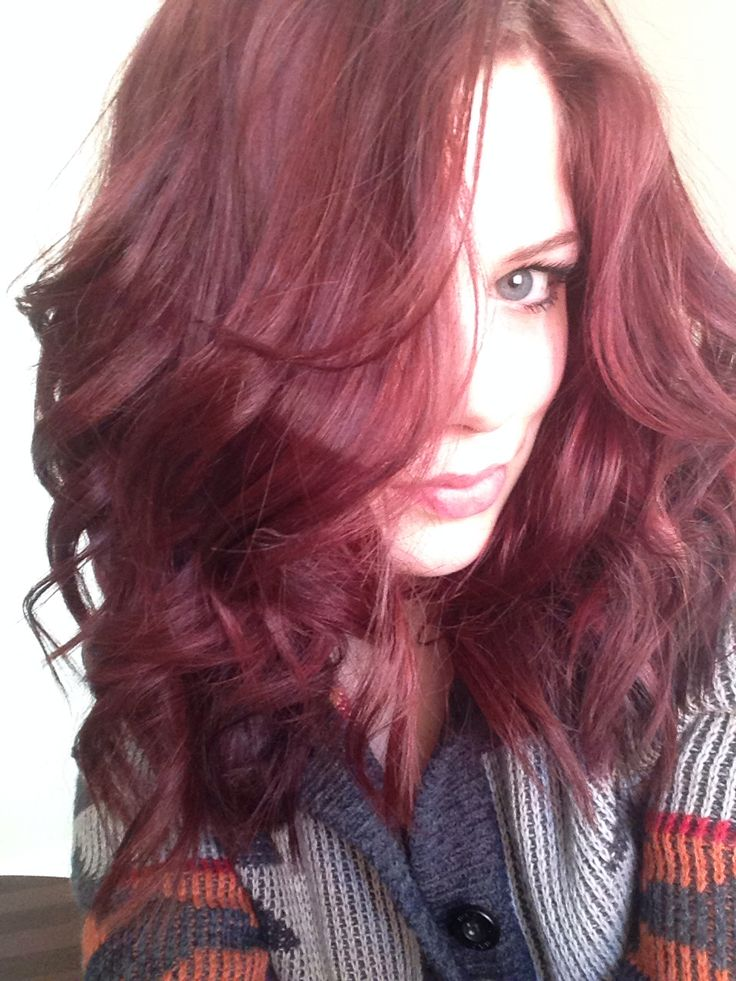 New Do Medium Red Hair Redken 5RR And 3RV Beauty
