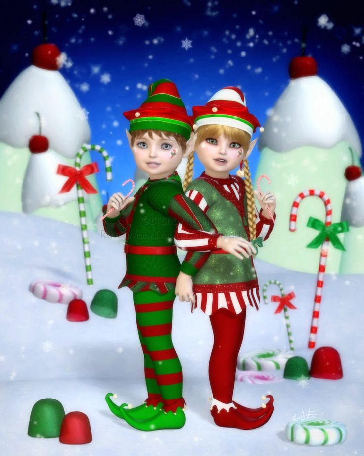 Elves of Candy Mountain by RavenMoonDesigns on