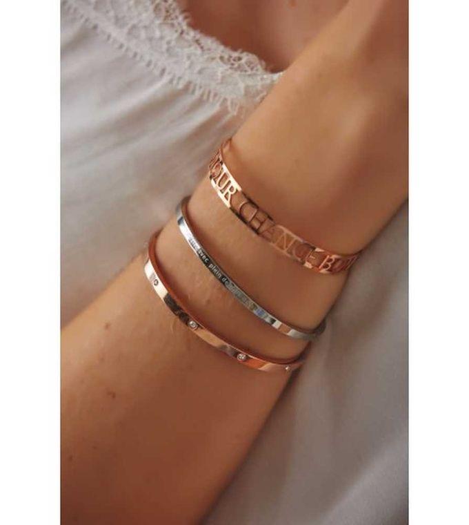 Articles de Paris - Bracelet strass doré rose - Taylorbox -