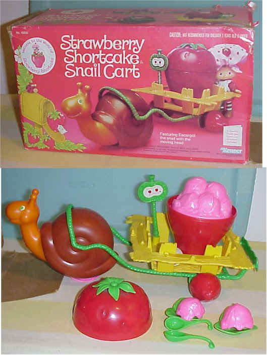 Strawberry Shortcake Snail Cart... I still have this with the box!!!
