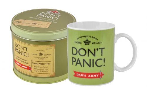 Dads army dont panic mug in a tin