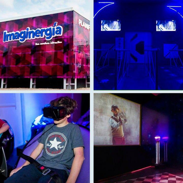 An awesome Virtual Reality pic! El cine 5D te está esperando en Tecnópolis Argentina!  Te quedan sólo 2 semanas para atravesar la increíble experiencia de #Imaginergía! #Tecnopolis #LosCreadores #VirtualReality #Occulus #5D #360video #TechKids #Kids by loscreadoresok check us out: http://bit.ly/1KyLetq