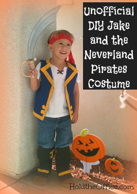 NO sewing machine req'd for Jake & Neverland Pirates costume. Super cute. by HoldtheOffice,