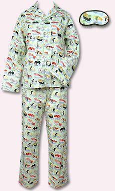 Sushi pyjama set by The Cat's Pajamas