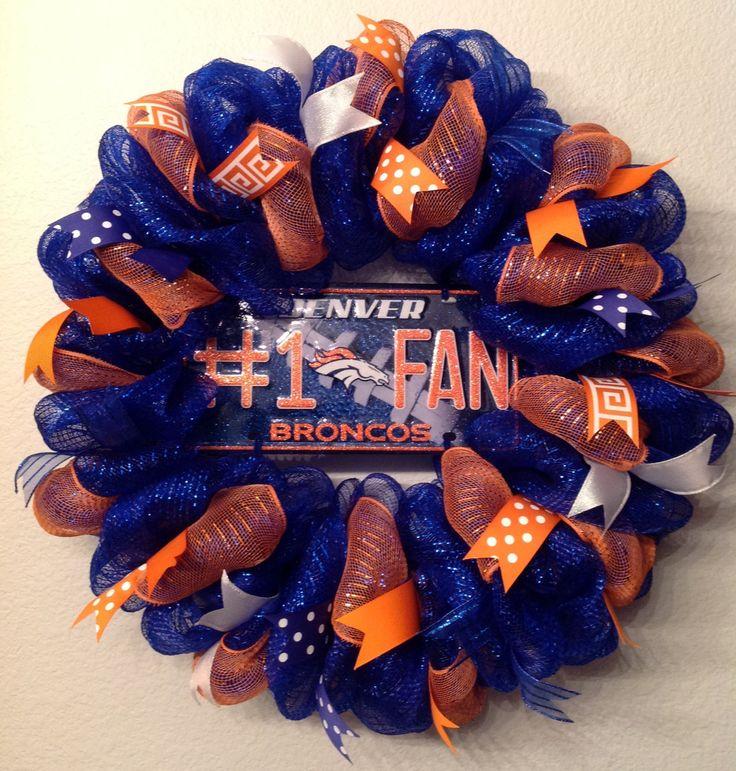 25 Best Ideas About Broncos Wreath On Pinterest Denver