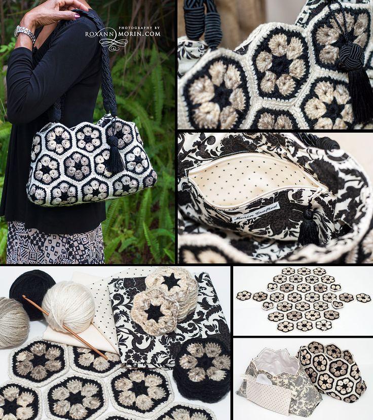 Great Crochet purse I made for my mom. Free pattern ༺✿ƬⱤღ http://www.pinterest.com/teretegui/✿༻