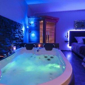Rêve & Spa - Appartement privatif Spa Dijon pour 2 personnes, bain jacuzzi pour 2, sauna infrarouge pour 2, douche tropicale avec ciel de pluie