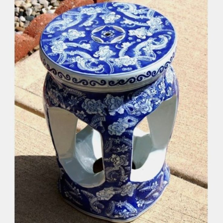 SALE Garden Seat Vintage Asian Porcelain Cobalt Blue White - Benches u0026 Stools & 221 best Garden Stools images on Pinterest | Chinese garden ... islam-shia.org