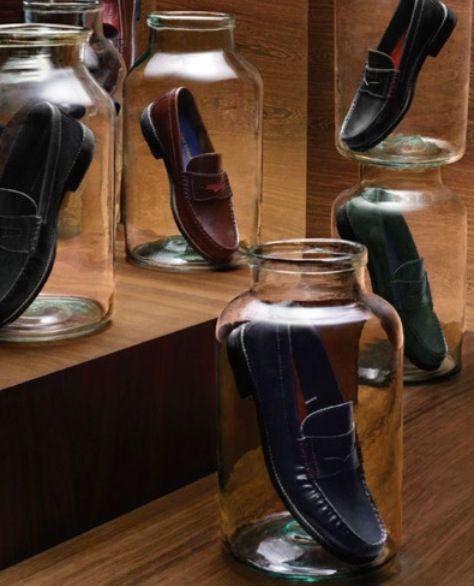 Original manera de presentar el calzado #visualmerchandising