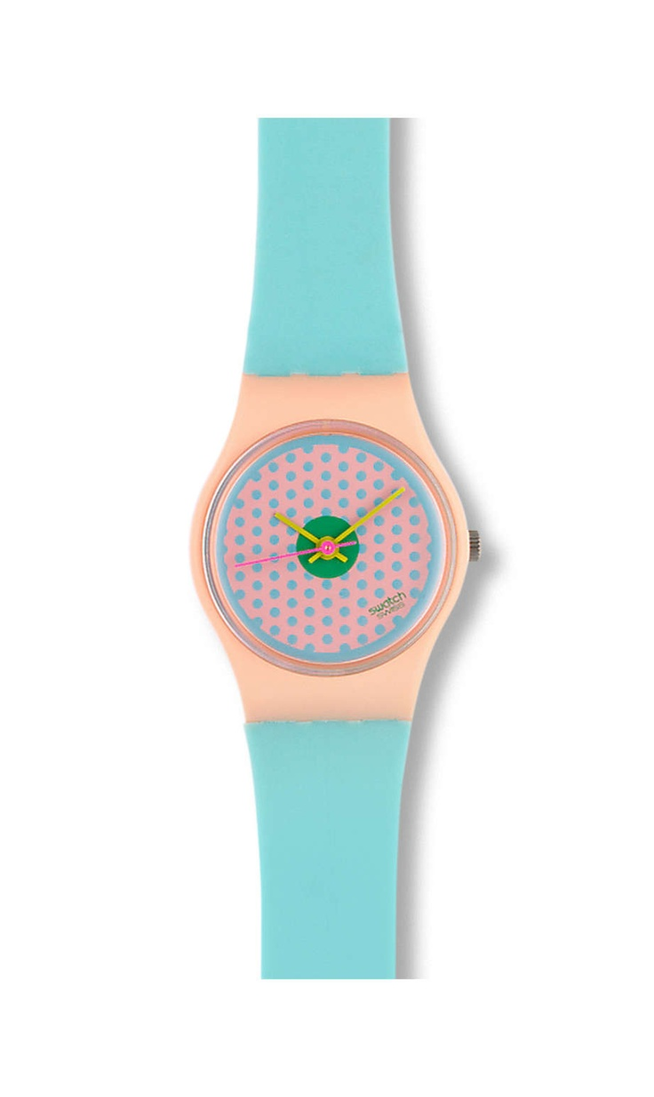 Pink Flamingo (1986) - my first Swatch! I still have the remnants of it somewhere...