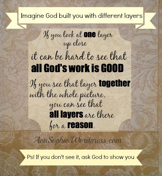 """I added """"The layers of filling that made YOU 