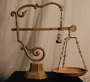 """Collectibles-General (Antiques): """"Antique"""" European Brass counter balance scale: Collection General Antiques, Collection Gener Antiques, Antique European, Collectibles General Antiques, Antiques European"""