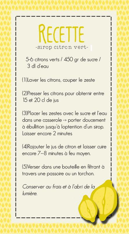 Recette sirop de citron Feuille de Papier - scrapbooking