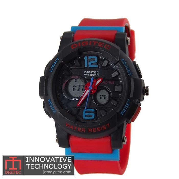 jam tangan digitec wanita DG-2073T merah hitam