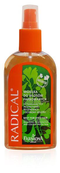 Mgiełka nabłyszczająca do włosów farbowanych ♥ farmona.pl/produkty/pielegnacja-wlosow/radical-linia-do-wlosow-farbowanych/
