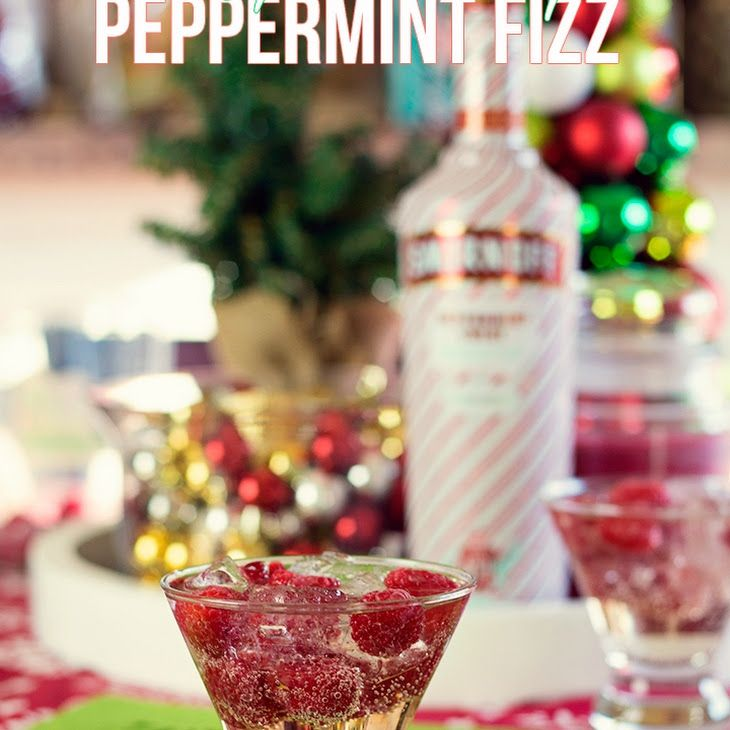 Raspberry Peppermint Fizz Recipe Beverages, Cocktails with champagne, vodka, fresh raspberries, ice