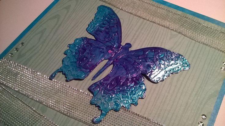 Sizzix Butterfly. Card / Perhonen. Kortti tai taulu.