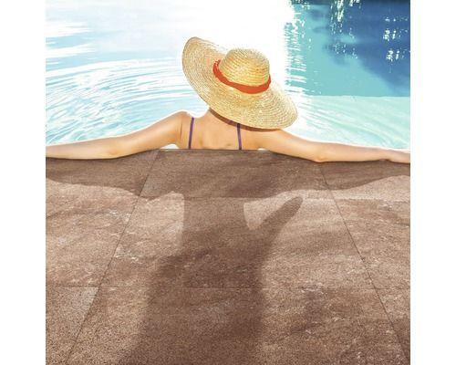 Vloertegel buxy brown 61 x 61 cm kopen bij hornbach huis for Hornbach swimmingpool