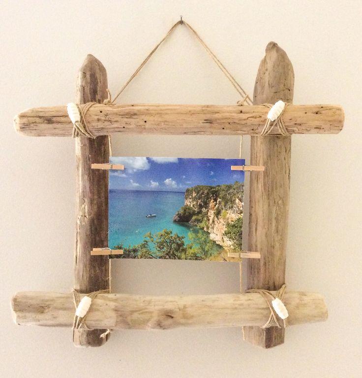 Cadre photo en bois flott par l 39 atelier de corinne atelier photos et - Cadre en bois flotte decoration ...