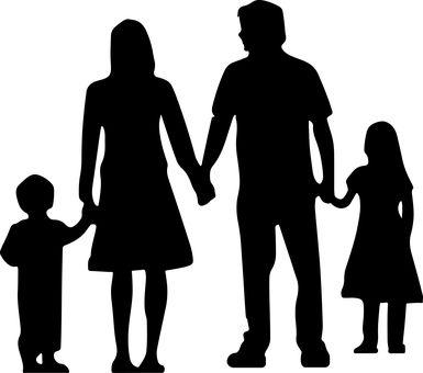 Resultado de imagen para silueta de familia unida