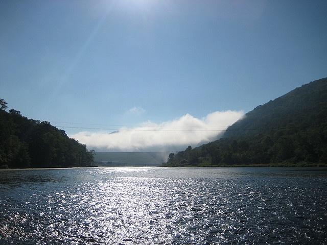 Kinzua Dam in the Mist by ken mohnkern, via Flickr