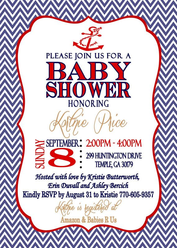 nautical theme baby shower invitation babies shower invitations and