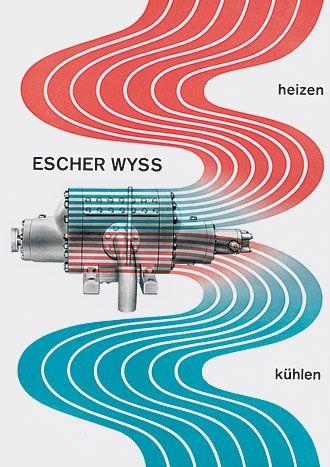 Richard Paul Lohse  Escher Wyss, heizen – kühlen, brochure title, 1948