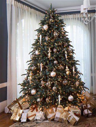 Always appreciated for its sturdy branches and attractive grey-green color, the Balsam Hill Noble Fir is one of America's most popular Christmas tree styles.