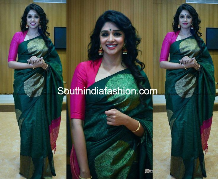 www.southindiafashion.com wp-content uploads 2017 03 nyla-usha-green-kanjeevaram-saree-flowers-tv-awards-2017.jpg