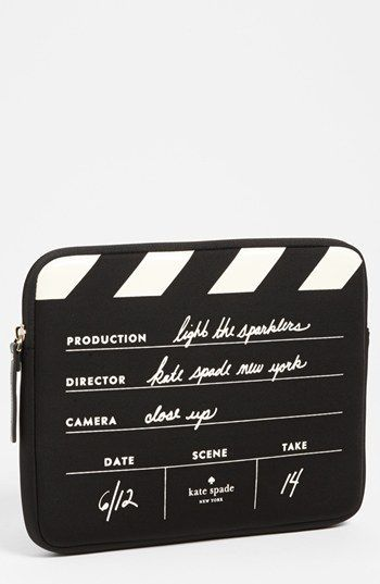 kate spade new york 'director's clapboard' iPad sleeve available at #Nordstrom