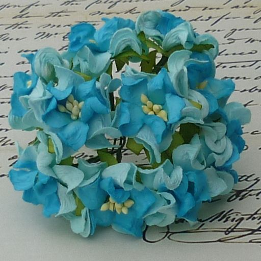 2-TONE BLUE SMALL GARDENIA
