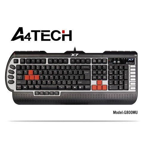 A4 TECH X7-G800V Q USB SİYAH TR GAMER MM KLAVYE :: sanaldunyaavm