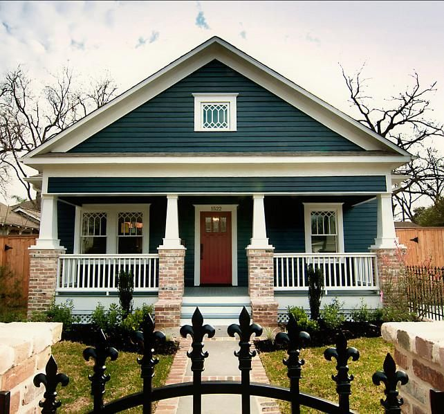 Best 25 craftsman style exterior ideas on pinterest for Blue house builders