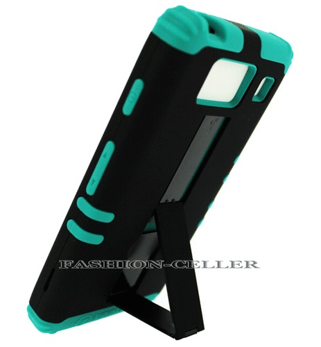Hybrid BG Silicone+Black Phone Cover Case Snap For Motorola Droid Razr HD XT926
