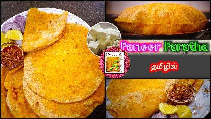 Paneer Paratha - in Tamil - Paneer Stuffed Delicious Parathas