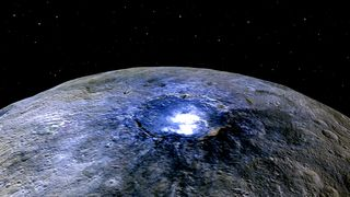 Ceres' Occator Crater in false colors