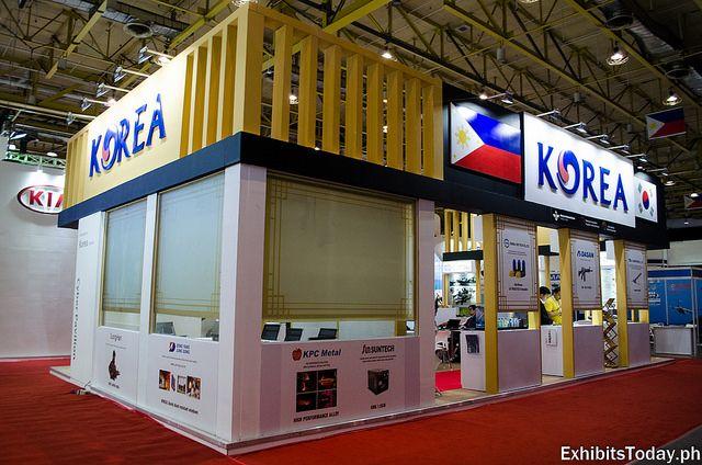 Back of Korea Aerospace Industries Pavilion #exhibit #booth #tradeshow