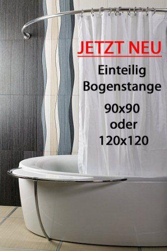 Ikea Stange Dusche : ALU EINTEILIG Duschvorhangstange Bogenstange 90x 90 Chrom / Silber